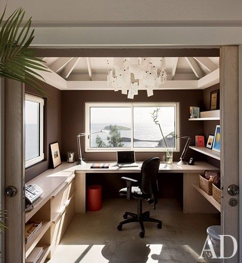 Home offices interiors inspiration studies home for Small office interior design inspiration