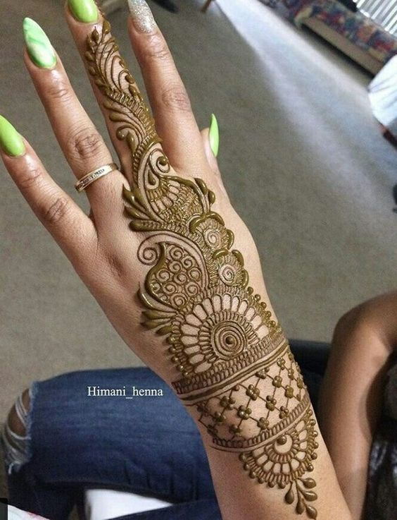 Simple Mehndi Disgine Arebic