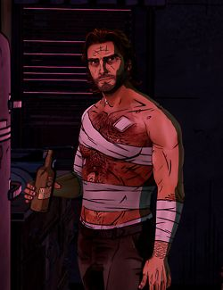 The Wolf Among Us. Just after Bigby returned from near-death and set his own arm... Huh, hard-boiled? What do you mean? ; )