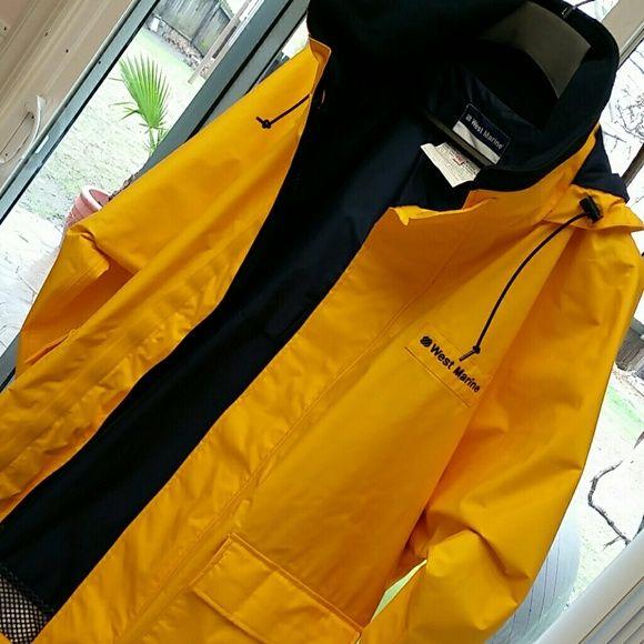 West Marine jacket ⚓XXL Stay dry & visible 🐳 EUC 😆 Great for fishing West Marine  Jackets & Coats Performance Jackets
