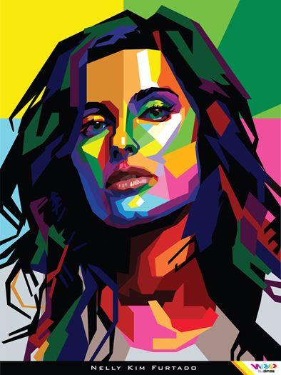 https://flic.kr/p/9va1dv | NELLY FURTADO in WPAP (Wedha's Pop Art Portrait) By Dimas | WPAP 2010 by dimas