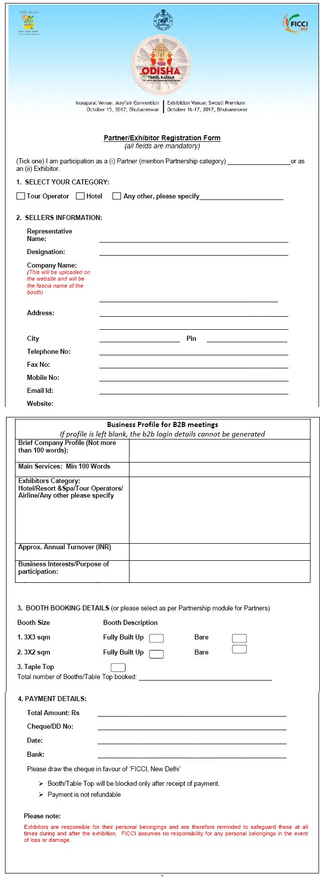 Exhibitors Registration Form