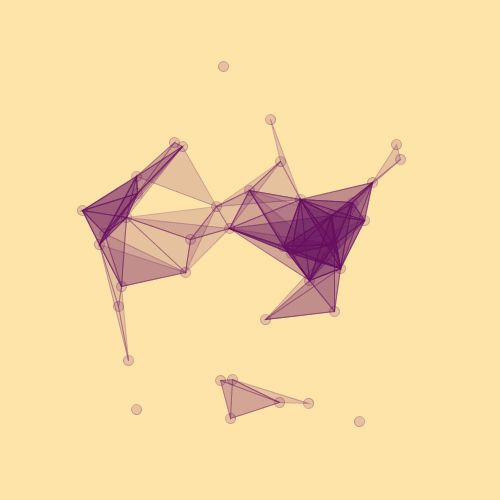 Triangles in flux II (slight variation of the previous one; code here)