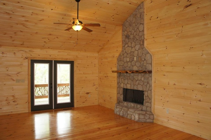 River Stone Fireplace With Slab Cedar Mantel Stone Projects Pinterest Rivers Mantels And