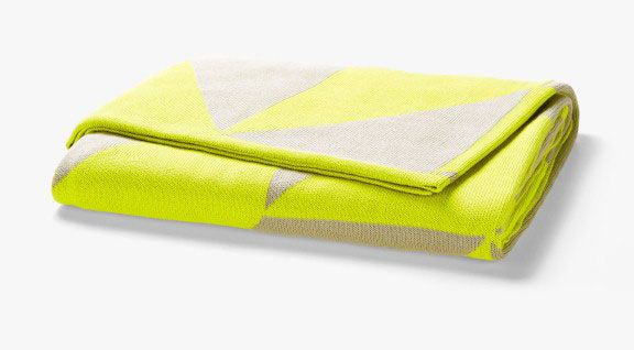Duo Neon Lime Throw by Aura AUD $169.95   Contemporary and stylish, our Duo throws have been knitted in a super soft pure Cotton, the perfect solution to add a splash of colour and texture to your home. #MYHAH #throw #cute #quirky