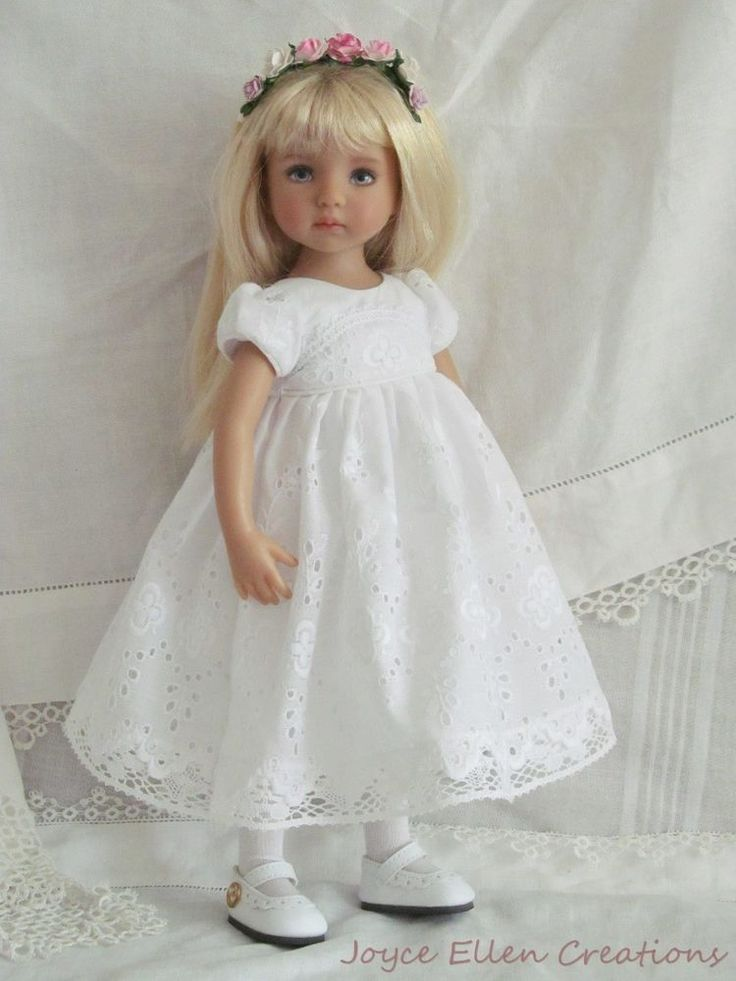 "13"" Effner Little Darling BJD fashion white eyelet lace OOAK handmade by JEC #ClothingAccessories"