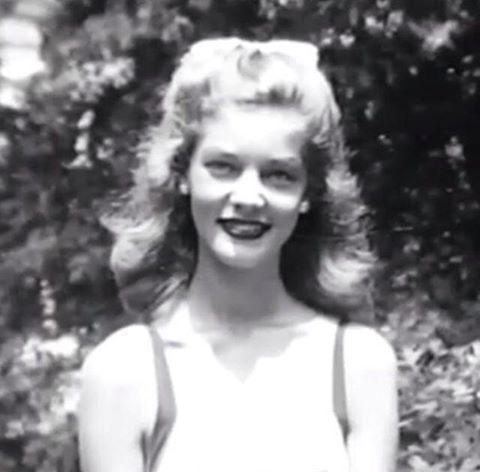 A young, Lauren Bacall.