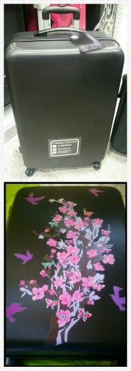 Before and after luggage bag