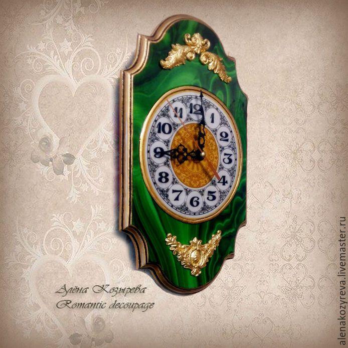 """Купить Часы настенные """"Элегант"""" - зеленый, часы настенные, часы для дома, часы в…"""