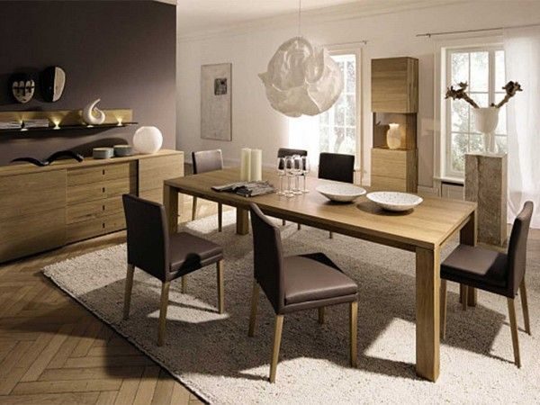 A cozy floor plan makes room for a dining area   Stylish Modern Dining  Spaces141 best Dining Room images on Pinterest   Christmas dining rooms  . Modern Home Dining Rooms. Home Design Ideas