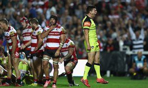 Ben Youngs celebrates after Leicester Tigers' last-minute try earned victory at…