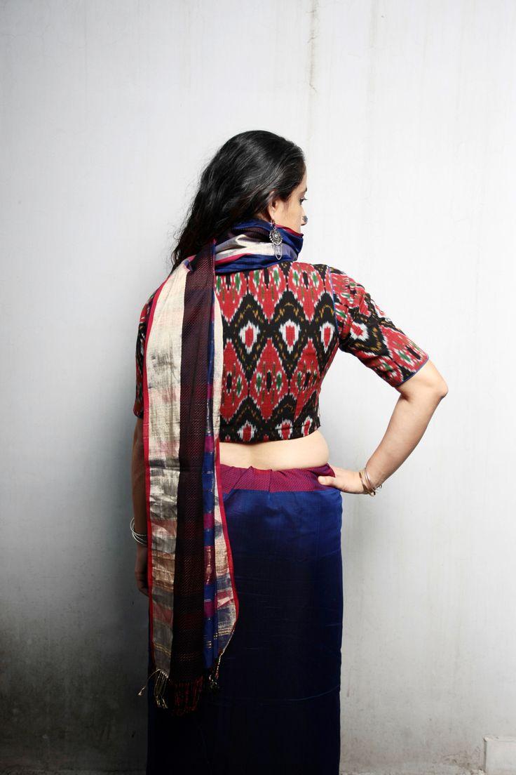 Ecoloom saree #BeautifulensEmble #handwoven #handloom #cottonsilk