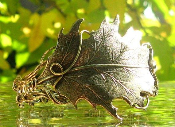 Elven Oak Leaf Bracelet