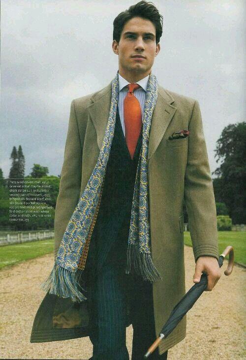 Scarf,coat,tie