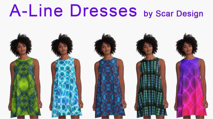 Modern A-line Dresses by Scar Design. #dress #fashion #style #giftsforhe #family #women #woman #alinedress #modern #redbubble #scardesign #art #artist #shopping #online #colorful #colors #pattern #geometric #plaid