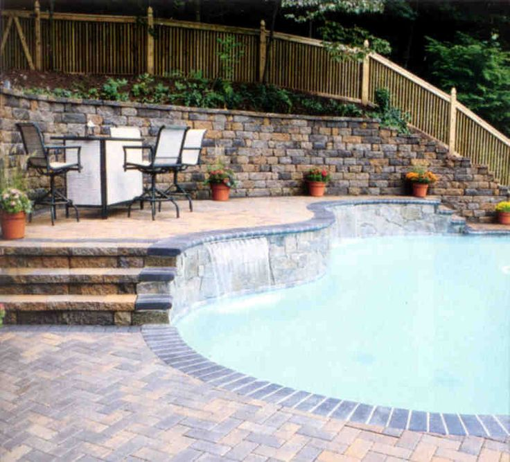 Retaining wall pool retaining walls home decoration for Pool design retaining wall