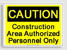 Printable OSHA signs (for construction party).