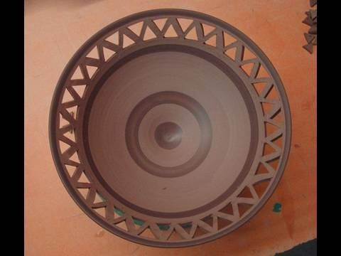Video. how to cut design into pottery
