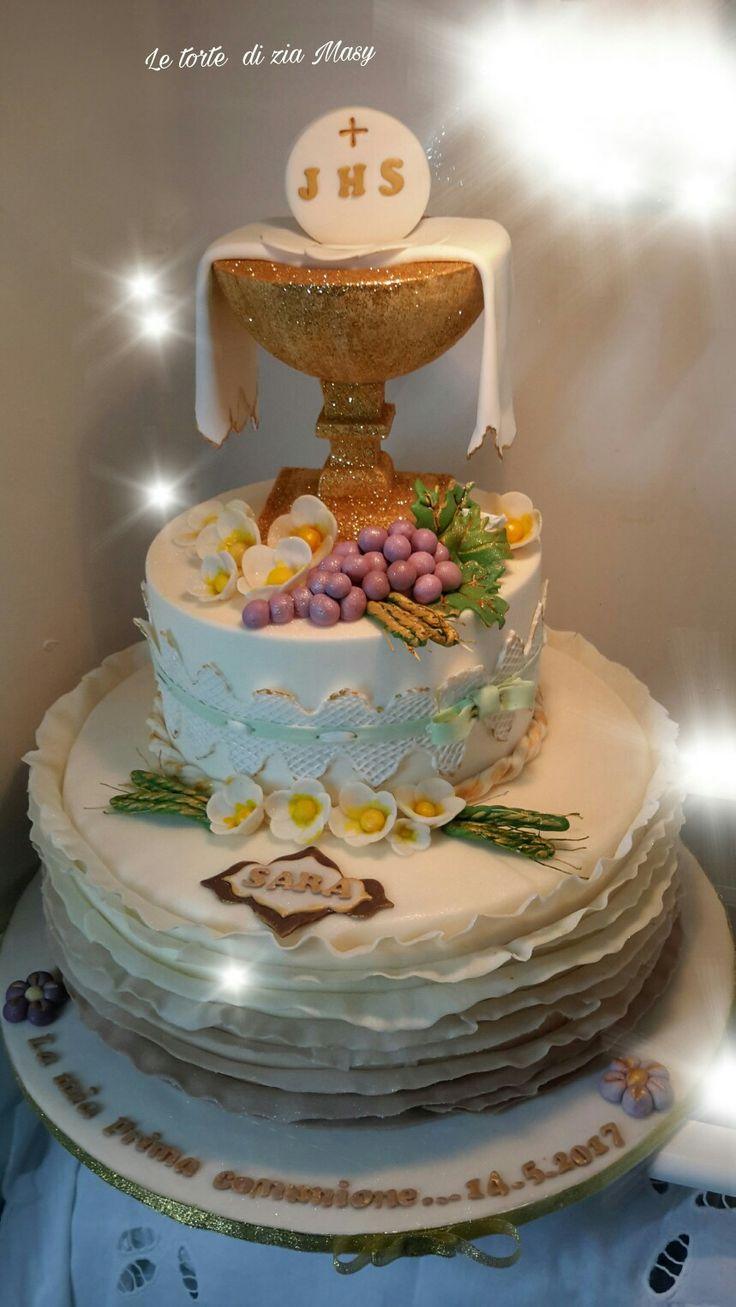 Pi di 25 fantastiche idee su torte per la prima comunione for Decorazione torte prima comunione
