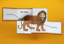 Flip-Flap: The Lion - Materials for children in pre-K and kindergarten from KiGaPortal.com