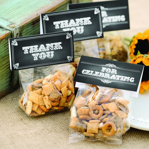 Goodie bags sachet à friandise ardoise - Mariage western - Chalkboard Style Treat Toppers