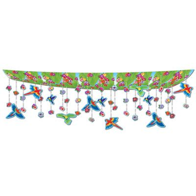 Flowers & Birds Ceiling Decor - 3.66m