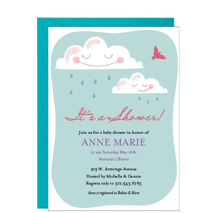 Showery Skies Baby Shower Invitation