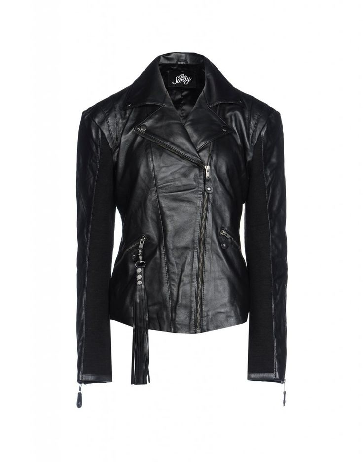 The Sway Leather Jacket from the Amber Valletta Master & Muse Collection