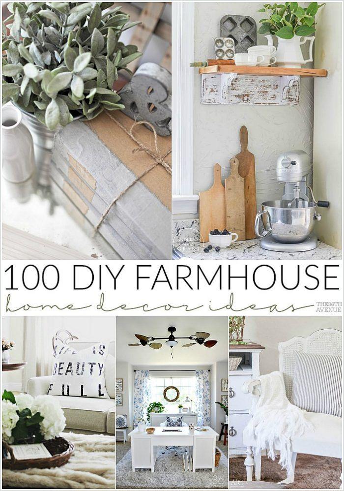 100 DIY Farmhouse Home Decor IdeasTracy Lurkins