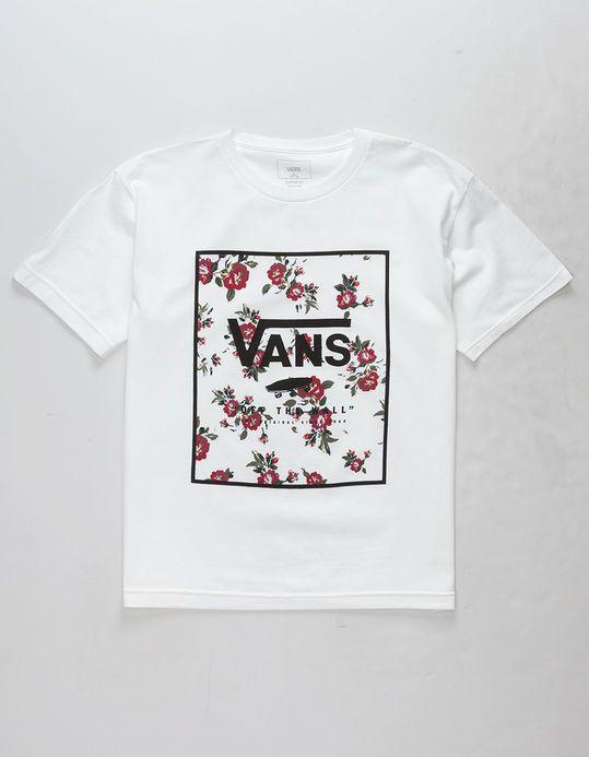 8e033aef2 VANS Rose Print Box Boys T-Shirt | Gifting | Boys t shirts, Print ...