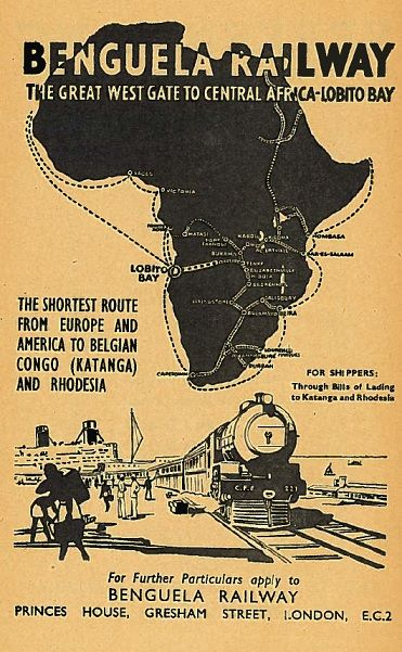 East-South-Central Africa Railway Lines Ad 1951