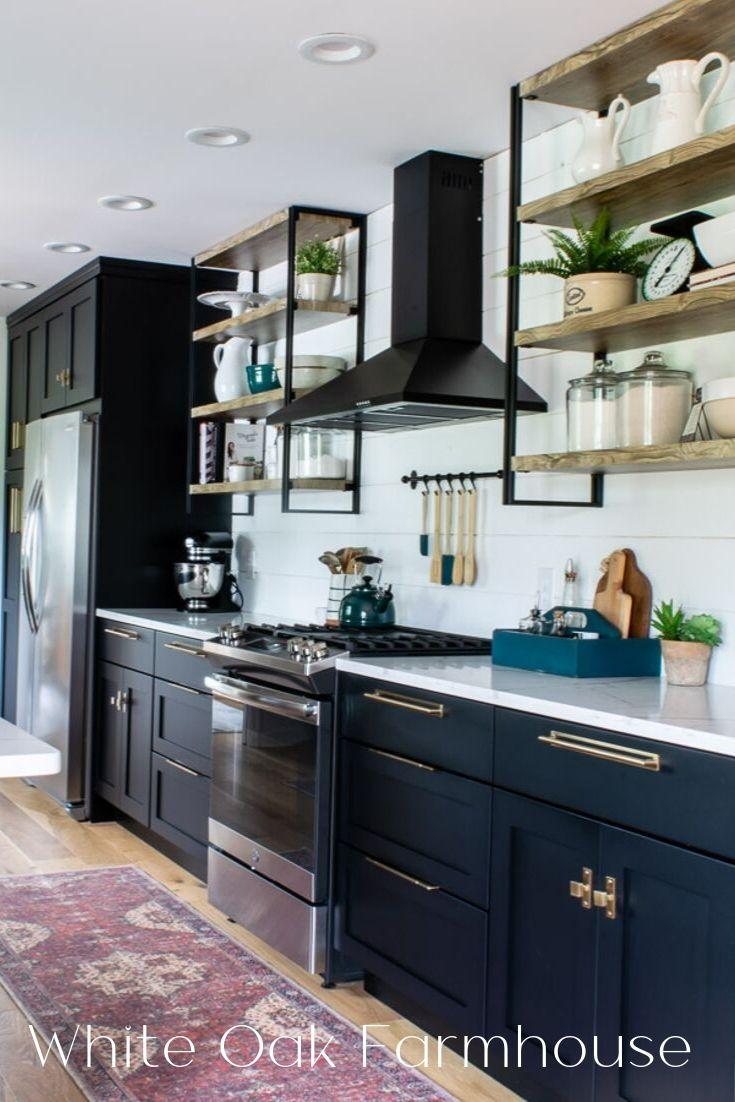 Modern Farmhouse Black Kitchen Reveal Black Kitchens Farmhouse