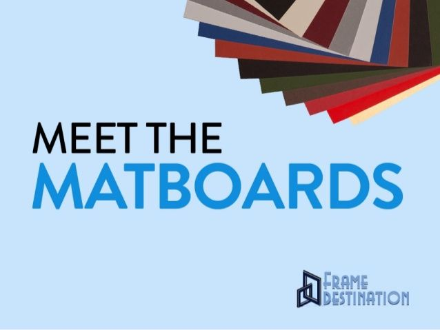 An introduction to matboard for picture framing: defines matboard and provides an overview of the different types - wood pulp, alpha-cellulose, and cotton mat board.