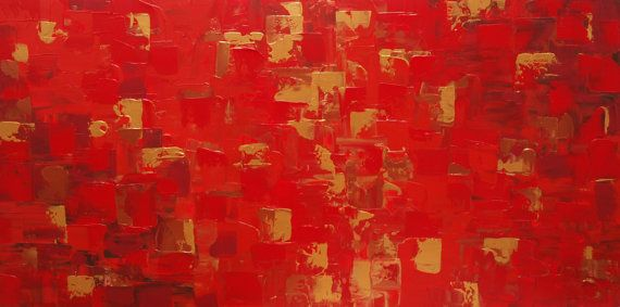 ABSTRACT Modern Large Contemporary Palette Knife textured