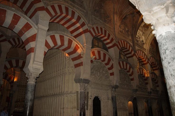 inside cordoba mosque