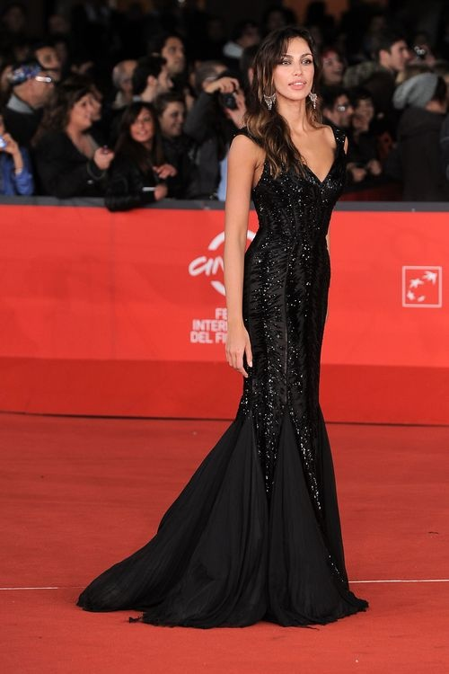The Gorgeous Madalina Ghenea Wore A Black Robertocavalli Gown At Race Premiere During 7th Edition Of International