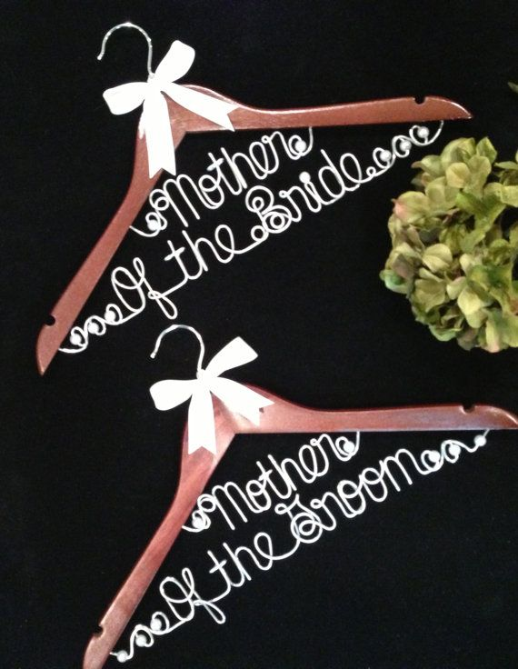 Mother of the Bride or Mother of the Groom Wedding hangers for Dress or Gown