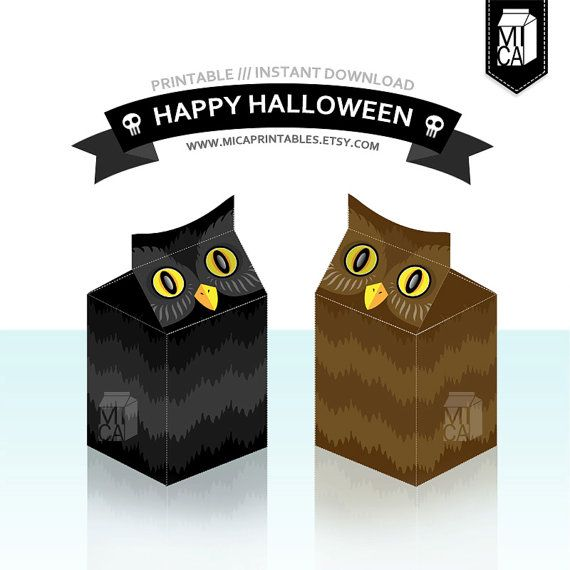 #Halloween #Printables #Party #Favor #Decoration #Owl by MicaPrintables