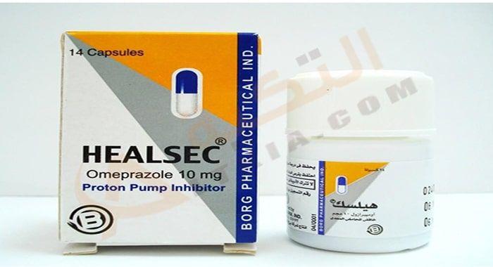 دواء هيلسك Healsec كبسول لعلاج قرحة المعدة فإن هذه الفترة زادت حالات الإصابة بقحة المعدة حيث أنها التهابات ت صيب الجهاز اله Capsule Omeprazole Pharmaceutical