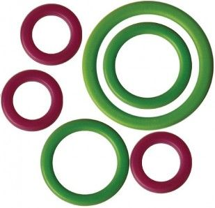 KNITPROPurple and Green RingStitch Markers – Total of 40 ring stitch-markers in a pack – 10 large (16.5 mm), 15 medium (10 mm) and 15 small (6 mm)