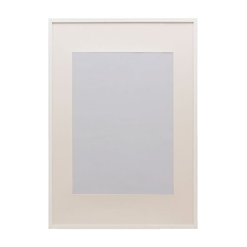 "RIBBA Frame, white white 30x40 cm fits A4 but not 8x10"" :/"