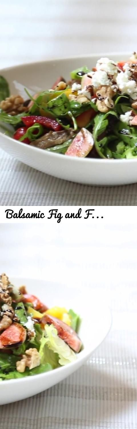 Balsamic Fig and Feta Goat Cheese Salad Recipe | Gitika's Kitchen... Tags: Balsamic Fig and Feta Goat Cheese Salad, Feta Goat Cheese Salad, Gitika's Kitchen, Fig and Feta Goat Cheese Salad, salad, best salads ever, best salad recipes ever, best salad recipes ever