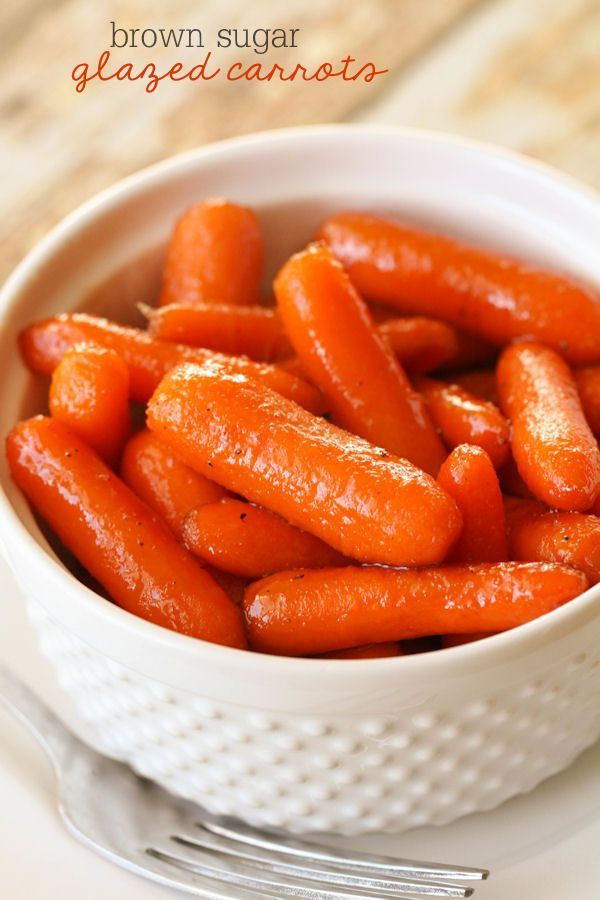 Our favorite side dish - Brown Sugar Glazed Carrots!! Yummy and easy! But I doubled all the ingredients except the carrots