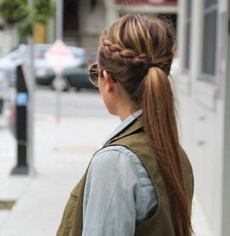 La queue de cheval tressée - 10 coiffures rapides et pratiques pour les vacances - Elle