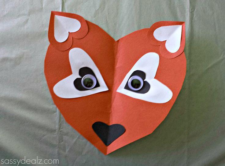 Paper heart fox craft for kids - Sassydeals com ...