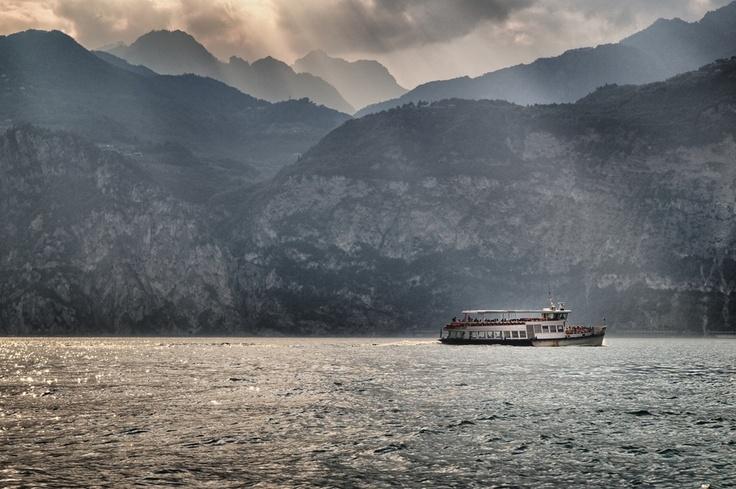 Ship on the lake #LagodiGarda #LakeGarda #Gardasee #LacdeGarde