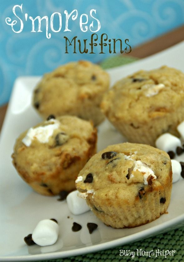 S'mores Muffins / www.BusyMomsHelper.com Just ate some S'mores muffins from Shop n Save & they had the crystallized sugar pieces on top...oh so good! Gigi