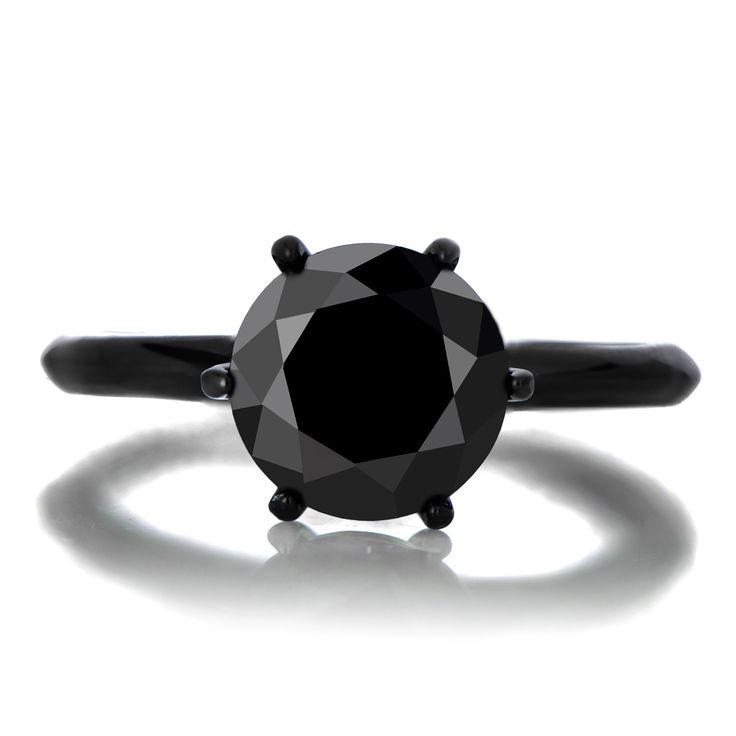 Enya\'s 1.5ct Black CZ Engagement Ring