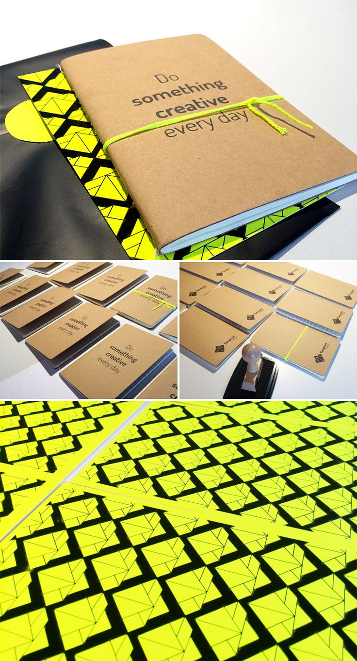 Studio Tangram made this Briljant Mailing to let her customers know she's taking a summer break. She bought the fluorescent twine in our shop, here http://www.eennieuwavontuur.com/a-37521454/bakkerstouw/bakkerstouw-neon-geel/