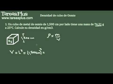 Cálculo de densidades – densidad de cubo de Osmio